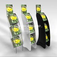 Floor Standing 3 Shelf Media Display