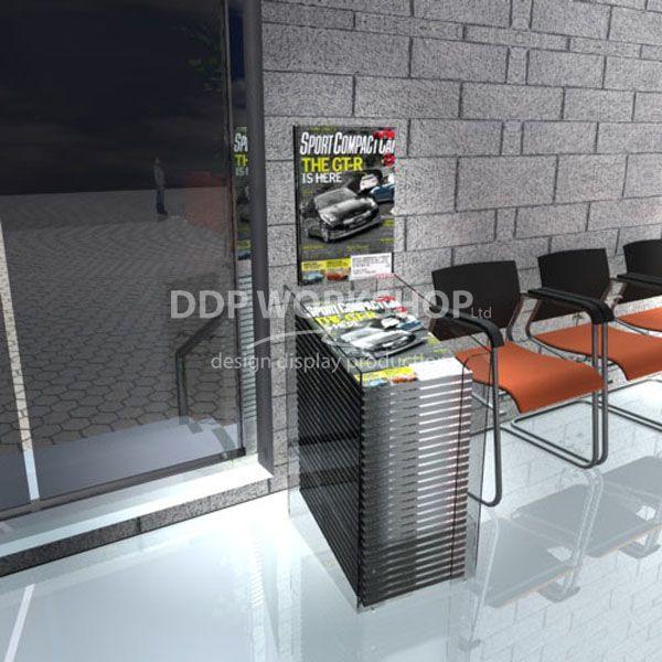 Perspex Dump Bin Display Single Stack