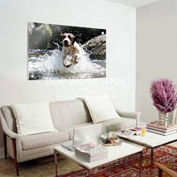 The printed acrylic frame